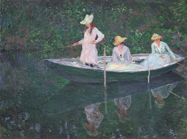 Monet - In der Barke, 1887 S © RMN-Grand Palais (Musée d Orsay) Hervé Lewandowski
